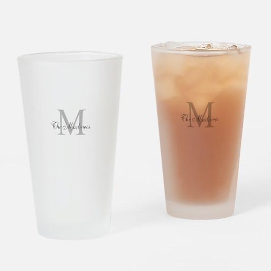 Monogrammed Duvet Cover Drinking Glass