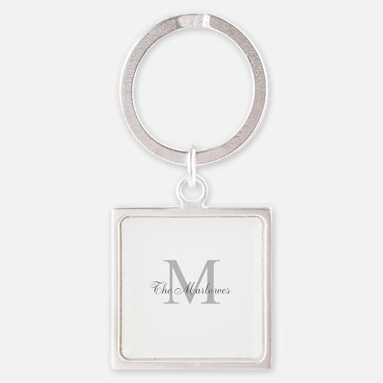 Monogrammed Duvet Cover Keychains