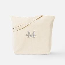 Monogrammed Duvet Cover Tote Bag