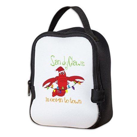 Sandy Claws is comin to town Neoprene Lunch Bag