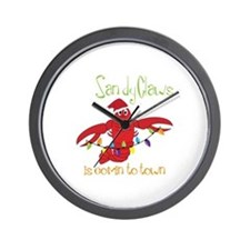 Sandy Claws is comin to town Wall Clock