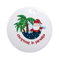 Chirstmas in paradise Ornament (Round)