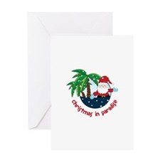 Chirstmas in paradise Greeting Cards