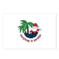 Chirstmas in paradise Postcards (Package of 8)