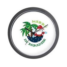 IN PARADISE Wall Clock