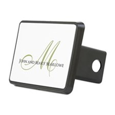 Names and Monogrammed Initial Hitch Cover