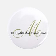 """Names and Monogrammed Initial 3.5"""" Button"""