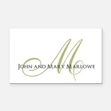 Names and Monogrammed Initial Rectangle Car Magnet
