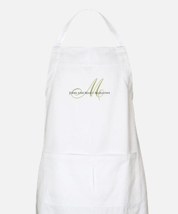 Names and Monogrammed Initial Apron