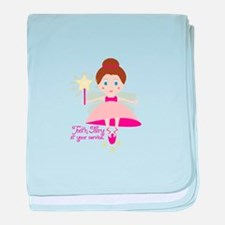 Tooth Fairy At Your Service baby blanket