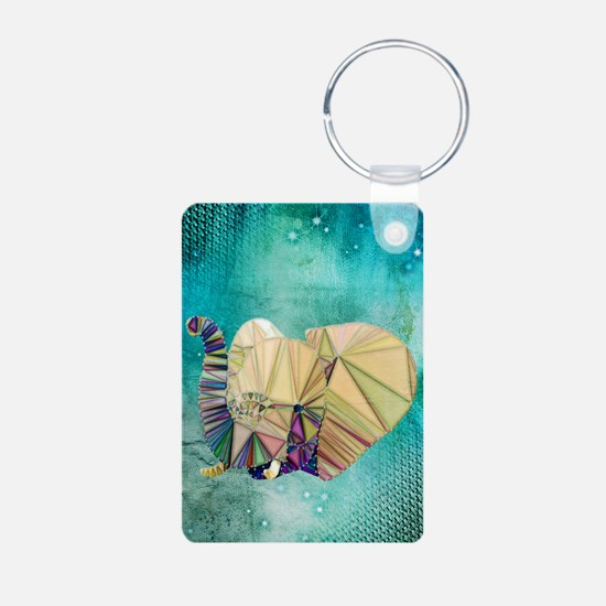 Abstract Elephant Keychains