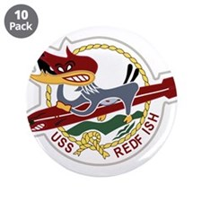 "USS REDFISH 6.5 Patch Navy 3.5"" Button (10 pack)"