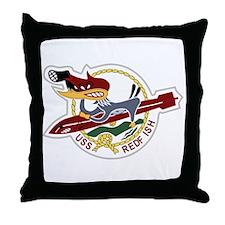 USS REDFISH 6.5 Patch Navy Throw Pillow