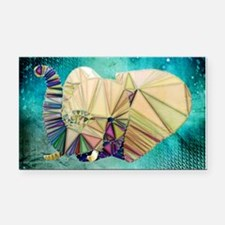 Abstract Elephant Rectangle Car Magnet