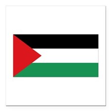 "Palestinian Flag Square Car Magnet 3"" x 3"""