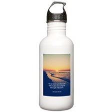 Christopher Columbus Quote Water Bottle