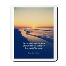 Christopher Columbus Quote Mousepad