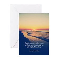 Christopher Columbus Quote Greeting Cards