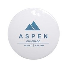 Aspen Ski Resort Colorado Ornament (Round)