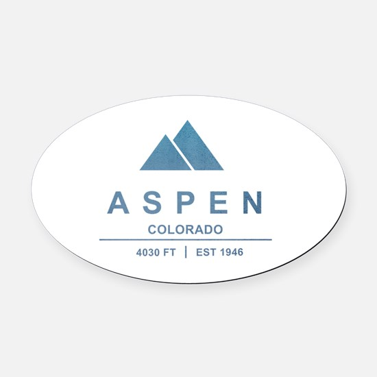 Aspen Ski Resort Colorado Oval Car Magnet