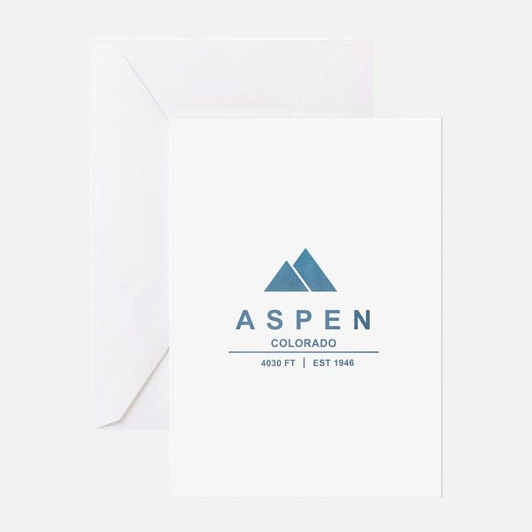 Aspen Ski Resort Colorado Greeting Cards