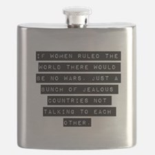 If Women Ruled The World Flask