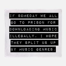 If Someday We All Go To Prison Throw Blanket