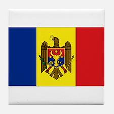 Moldovan flag Tile Coaster