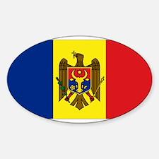 Moldovan flag Oval Decal