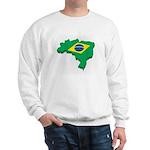 Brasil Flag Map Sweatshirt