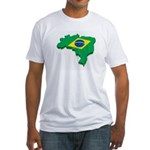 Brasil Flag Map T-Shirt