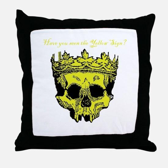 Yellow Sign Throw Pillow