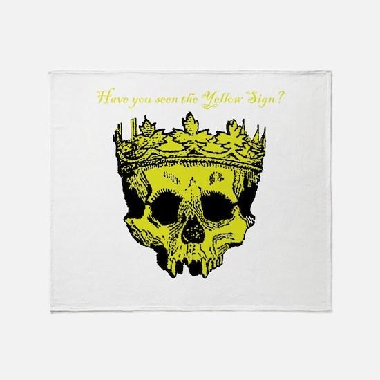 Yellow Sign Throw Blanket