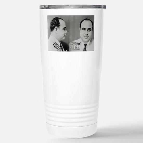 Al Capone Mug Shot, 193 Stainless Steel Travel Mug