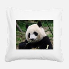 panda_eating.jpg Square Canvas Pillow