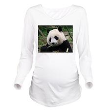panda_eating.jpg Long Sleeve Maternity T-Shirt