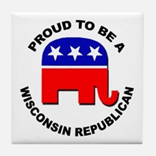 Proud Wisconsin Republican Tile Coaster
