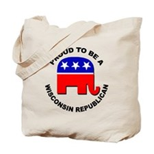 Proud Wisconsin Republican Tote Bag