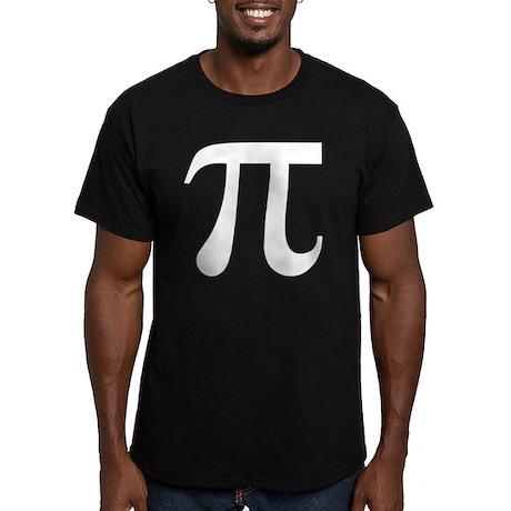 Pi Symbol Men's Fitted T-Shirt (dark)