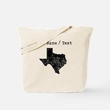 Custom Distressed Texas Silhouette Tote Bag