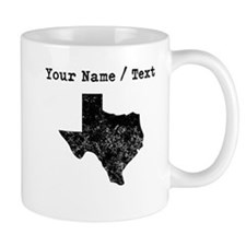 Custom Distressed Texas Silhouette Mugs
