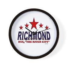 Richmond, RVA The River City Wall Clock