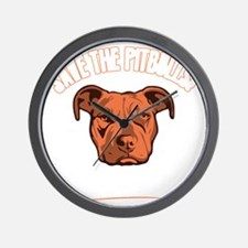 Save The Pit Bulls  Wall Clock