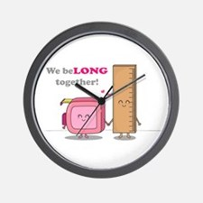 We belong together, Cute Couple in Love Wall Clock