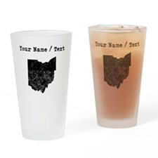 Custom Distressed Ohio Silhouette Drinking Glass