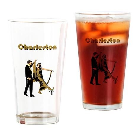 Charleston Flapper Drinking Glass by vintageposter