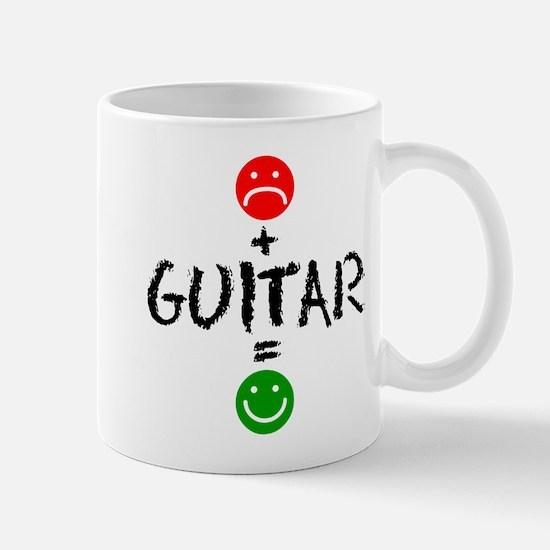 Plus Guitar Equals Happy Drinkware Mugs