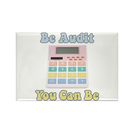 Be Audit You Can Be Rectangle Magnet
