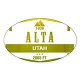 Alta ski resort stickers Single