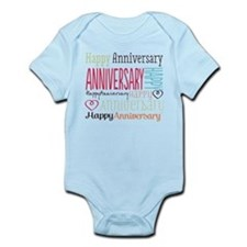 Modern Stylish Anniversary Infant Bodysuit